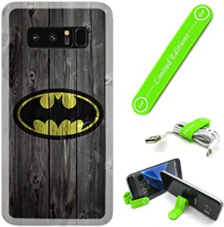 [Ashely Cases] for Samsung Galaxy S8+ (S8 Plus) Cover Case Skin with Flexible Phone Stand - Batman Wood