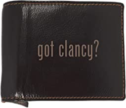 got clancy? - Soft Cowhide Genuine Engraved Bifold Leather Wallet