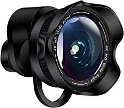 Insstro 2 in 1 Camera Lens Kit, 120° 0.6X Wide Angle Lens +198°Fisheye Lens Lens Clip on Cell Phone Lens for iPhone Android