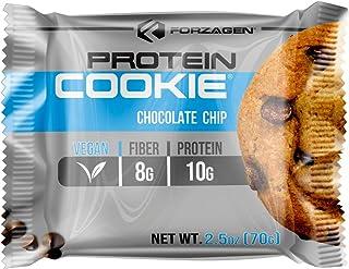Forzagen Vegan Protein Cookie Pack con 12 Sobres de Galleta de 70 g cada una| Galleta de Proteina Vegana | 10 g de Protein...