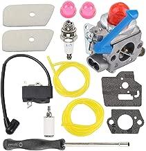 Hayskill C1Q-W40A Carburetor w Air Filter Tune Up Kit for Husqvarna 545081848 128CD 128LD 128L 128C 128LDX 128R 128RJ 128DJX String Trimmer Brushcutter Weed Eater Wacker Edger