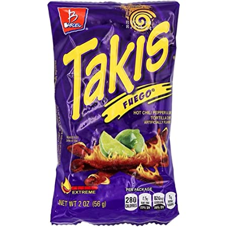Bracel, Takis, Fuego Hot Chili Pepper & Lime Tortilla Chips, 9.9-Ounce Bag (P... by Takis