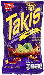 Bracel, Takis, Fuego Hot Chili Pepper & Lime Tortilla Chips, 9.9-Ounce Bag P... by Takis