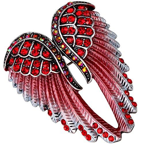 YACQ Ángel alas de ángel Cristal Bling de la joyería Mujeres Pin broches Colgantes