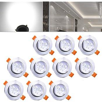 LED Einbaustrahler 230V IP44 5W LED Spots Bad Kaltwei/ß 6000K 500 Lumen f/ür Wohnzimmer Badezimmer 6er Set