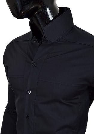Camisa de Sin Cuello Mao para Hombre Manga Larga Formal Vacaciones Comfort Slim