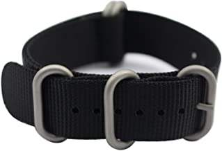 ArtStyle Watch Band with 1.5mm Thickness Quality Nylon Strap and Heavy Duty Brushed Buckle