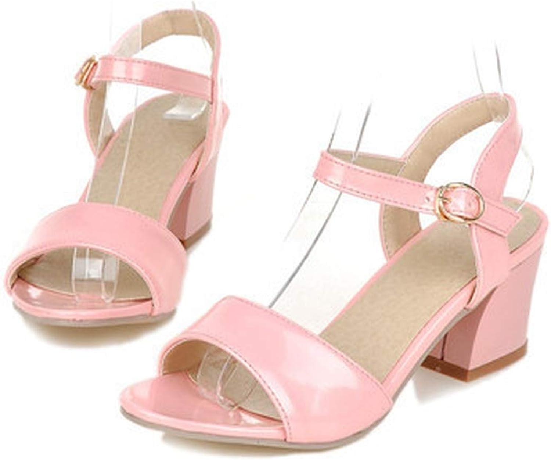 YuJi Women Sandals 2019 Summer shoes Sandals Open Toe Ladies Chunky High Heels Sandals