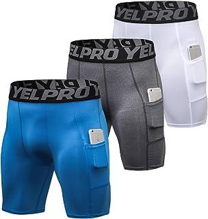 Shengwan 3 Piezas Pantalones Cortos de Compresión Hombre T
