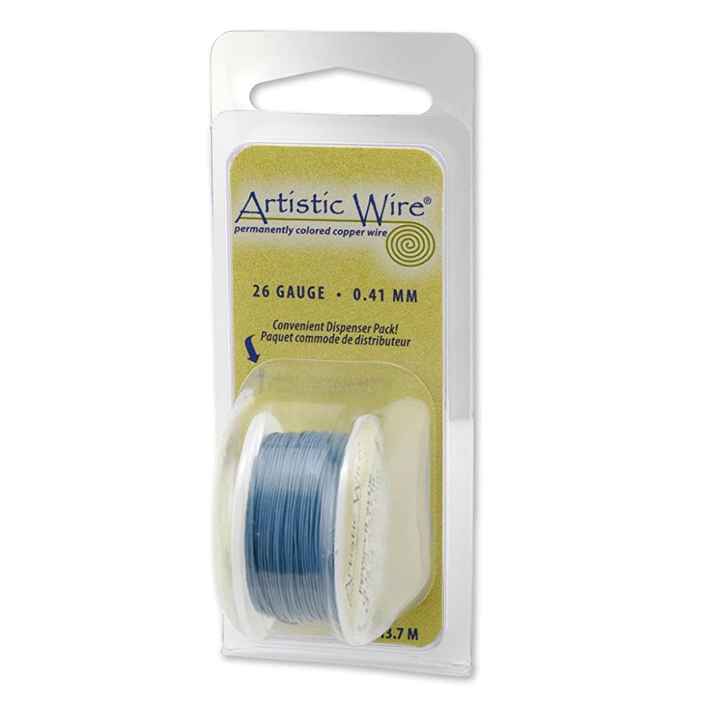 Beadalon Artistic, 24 Gauge, Powder Blue Color, 10 yd (9.1 m) Craft Wire,