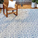 Home Dynamix Nicole Miller Patio Country Danica Area Rug, 7'9'x10'2', Blue/Gray, 10 Feet