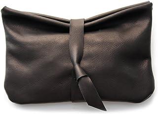 Pochette CRIS, borsa makeup / clutch bag / bustina in pelle di colore nero, perfetta come trousse per il trucco o trousse ...