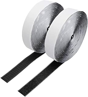 20Ft x 0.79 Inch Self Adhesive Strips, Heavy Duty Strong Back Sticky Fastening Hook Tape,Nylon Fabric Fastener Mounting Lo...