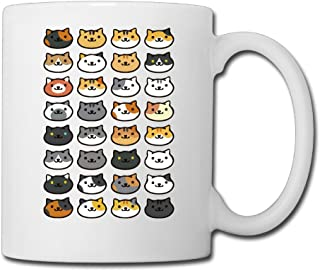 ALLWEKNOW Cat Kitten Puss Pussy Coffee Mug Water Cup Drinking Cup Beer Mug Milk Cup Tea Cup Restaurant Cups Ceramic Mug Morning Cup White