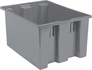 Akro-Mils, 35225GREY, Nest And Stack Container, 23-1/2 In, Gray