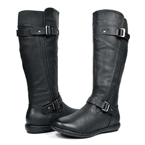 d1d34e60322f DREAM PAIRS Women s Summit Trace Faux Fur-Lined Knee High Winter Boots (Wide