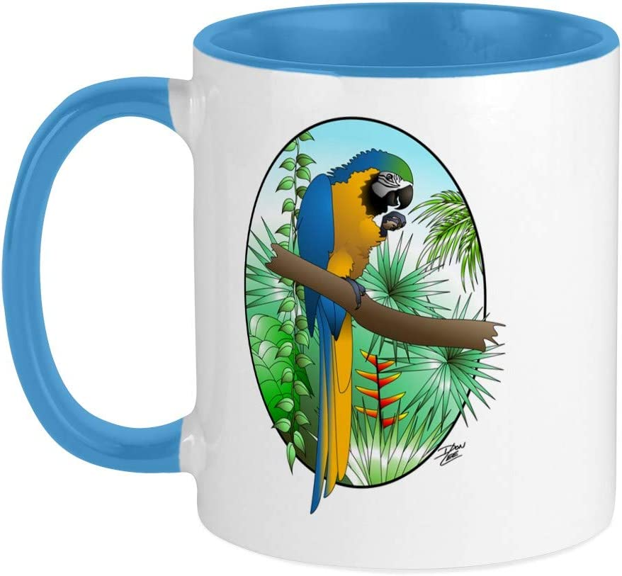 Amazon Com Cafepress Macaw Bg Mug Unique Coffee Mug Coffee Cup Kitchen Dining
