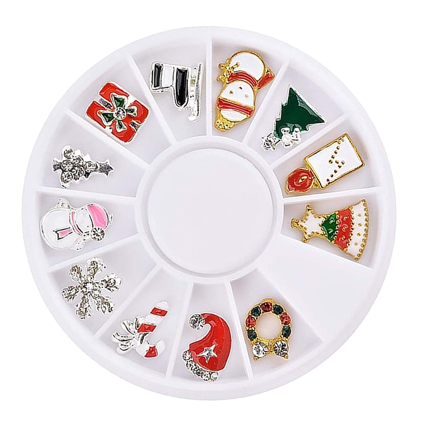 SM SunniMix ネイルアート ネイルパーツ 3Dネイルアート ステッカー 12枚 クリスマス風 マニキュア デコパーツ - #2