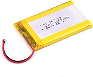 3.7V 1200mAh 503759 Lipo battery Rechargeable Lithium Polymer ion Battery Pack with JST Connector