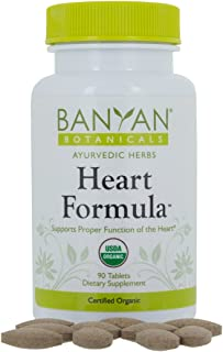 Banyan Botanicals Heart Formula Tablets - Certified USDA Organic - 90 Tablets - Ayurvedic Formula for a Healthy Heart*