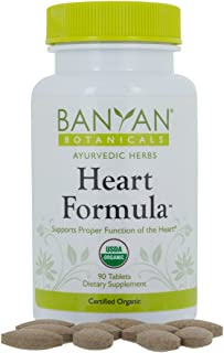 Banyan Botanicals Heart Formula Tablets - Certified USDA Organic - 90 Tablets - Ayurvedic Formula for a Healthy Heart*