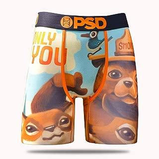 PSD Underwear Mens Smokey The Bear and Friends Athletic Boxer Briefs, Orange, M
