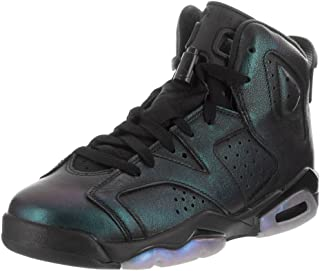 san francisco 119af c5393 Jordan Nike Kids Air 6 Retro AS BG Basketball Shoe 5.5 Black