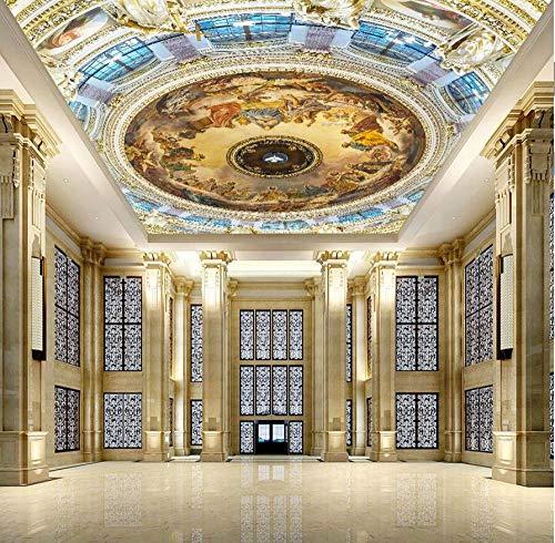 3d Ceiling Wallpaper Europäischen für Halle Wohnzimmer 3D Wand Deckengemälde 3d Wandbild 3d Tapete Großes mural-430 * 300cm