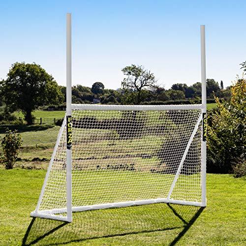 FORZA Gaelic Football & Hurling Goals | 8ft x 5ft, 10ft x 6ft, 12ft x 6ft | Weatherproof Net & uPVC Goal Posts | Garden Goal Posts For Kids (8ft x 5ft)
