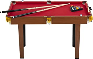 48-inch Pool Table Indoor Billiard Table with 16 Balls 2 Sticks 2 Chalk, Brush and Triangle Pool Game Table Gift Mini Pool...