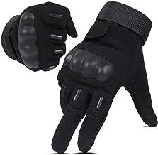 Hikeman tactische softair militaire handschoenen voor mannen en vrouwen, geschikt voor touchscreen, harde knokkelhandschoe...