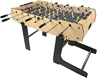 48'' Folding Foosball Table Competition Sized Soccer Football Table for Kids Gift