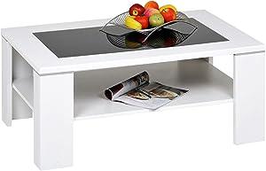 Alfa-Tische, Santos, Tavolino, Bianco, 100 x 65 cm