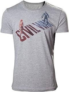 Marvel Captain America Civil War-Cap Vs Iron Man Camiseta para Hombre