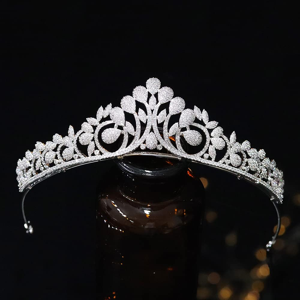 Jorsnovs Cubic Zirconia Bridal Sale SALE% OFF Tiaras Wedding Zir Crowns for New Orleans Mall and