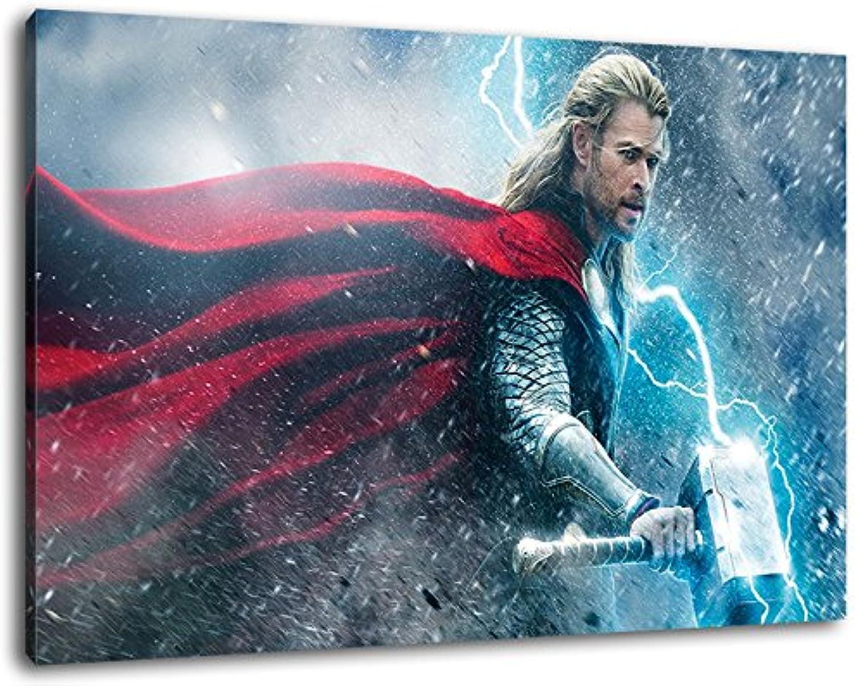 Thor the the the dark world Format 120x80 cm Bild auf Leinwand, XXL riesige Bilder fertig gerahmt mit Keilrahmen, Kunstdruck auf Wandbild mit Rahmen B00S3P4LHW dfc679