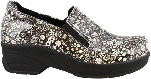 Easy Works Femmes Chaussures De Mule Couleur Couleur gris noir Florl Taille 39 EU   8 U  pour votre style de jeu aux meilleurs prix