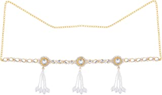Archi Collection Traditional Fashion Jewellery Gold-Plated Crystal Tassel Kamarband Waist Chain