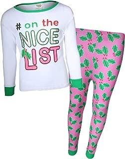 Sweet & Sassy Girls 2-Piece Snug Fit Christmas Pajama Set