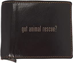 got animal rescue? - Soft Cowhide Genuine Engraved Bifold Leather Wallet