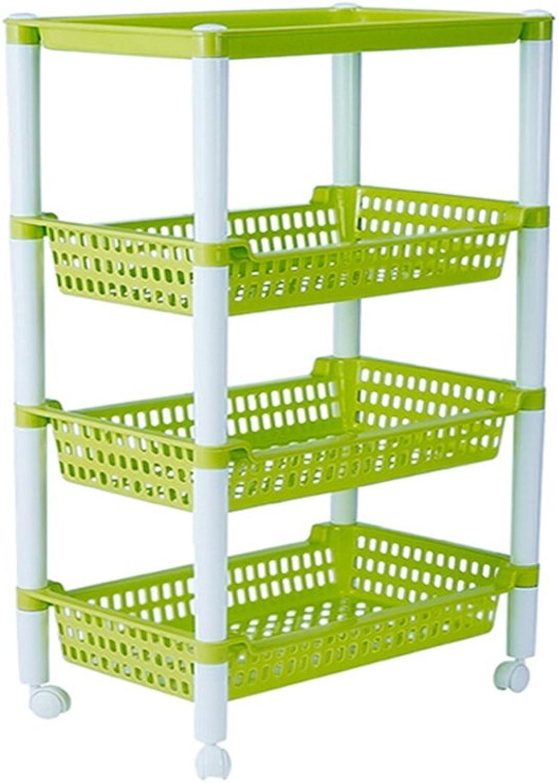 WAN SAN QIAN- Shelf Home Economy Shelf Plastic Rectangular hollowFloor Thicker Bathroom Shelf Washroom Storage Shelf Candy colors Storage Shelf 51.2x37.4x83.5cm Shelf ( color   Green )