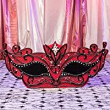 Red Masquerade Filigree Mask Mardi Gras Cutout Standup Photo Booth Prop Background Backdrop Party Decoration Decor Scene Setter Cardboard Cutout