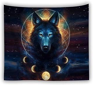 jtxqe Fábrica Directa tapicería Picnic Estera Animal Tapiz impresión Digital Lobo león Tigre Pared Caliente Colgar