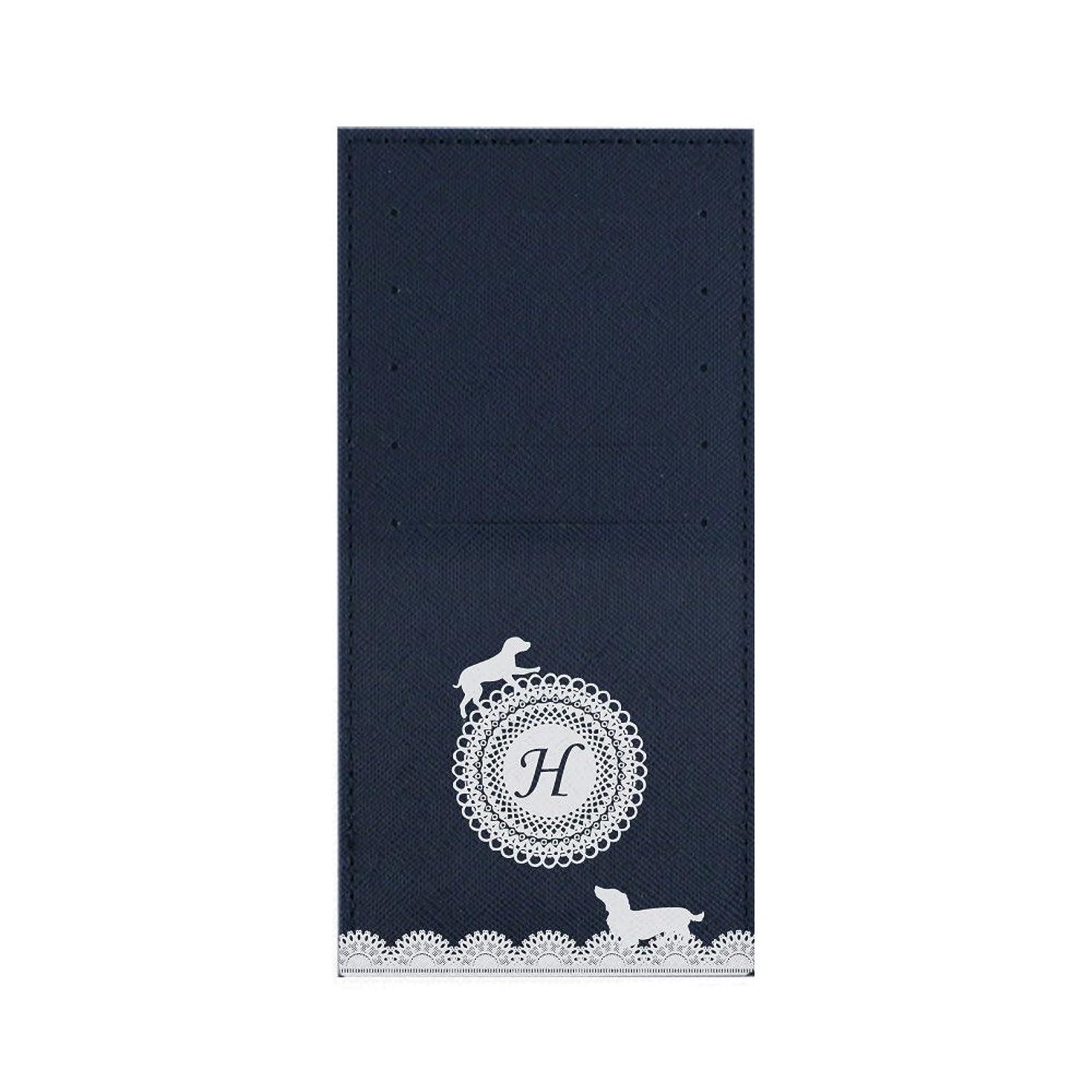 泥棒クロス学者インナーカードケース 長財布用カードケース 10枚収納可能 カード入れ 収納 プレゼント ギフト 3012レースネーム ( H ) ネイビー