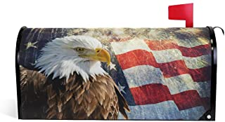"""WOOR Eagle and American Flag Magnetic Mailbox Cover MailWraps Garden Yard Home Decor for Outside Standard Size-18""""x 20.8"""""""