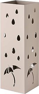 Baroni Home porte parapluie en métal au style moderne avec sculpture - support parapluie gris colombe avec crochet et bac ...