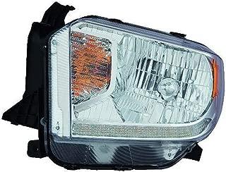 Fits Toyota Tundra 14-16 Headlight Assembly Halogen Platinum Edition LED Daytime Running Lights Passenger Side (NSF Certified)