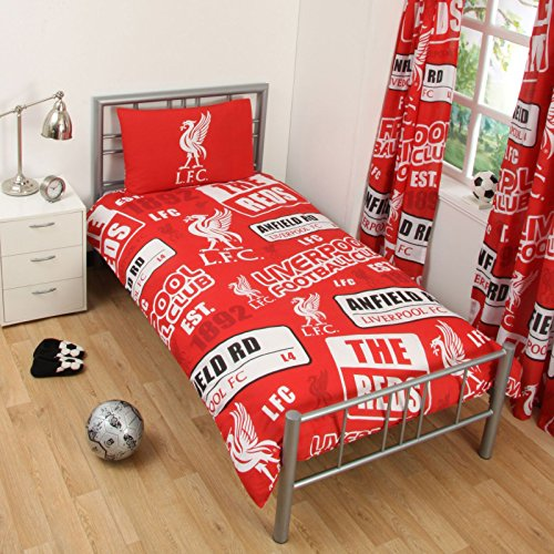 Liverpool FC Patch Single Duvet Cover and Pillowcase Set