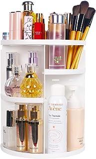 sanipoe 360 Makeup Organizer, DIY Detachable Spinning Cosmetic Makeup Caddy Storage DIsplay Bag Case Large Capacity Makeup...