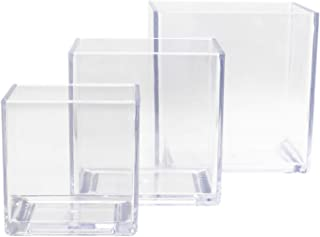 Royal Imports Flower Acrylic Vases Cubes - Decorative Centerpiece for Home or Wedding - Non Breakable Plastic - 4